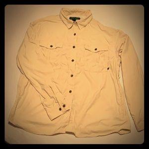 EMS Women's Large  hiking button shirt light cream